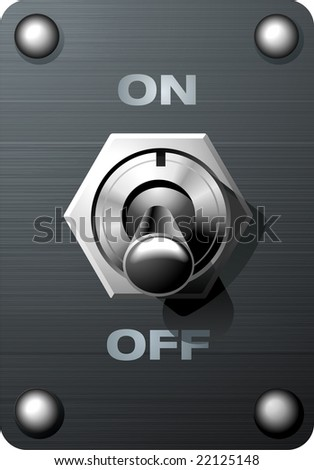 Realistic analog toggle switch tumbler in Off state