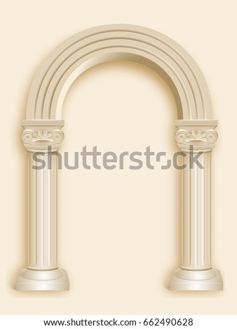 realistic antique roman column...