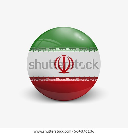 realistic ball with flag of