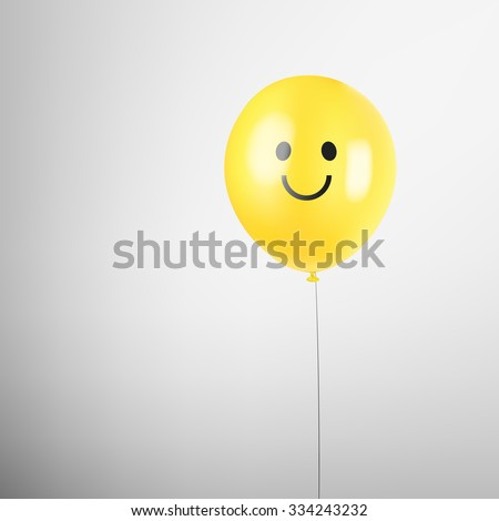 realistic balloon smiley face