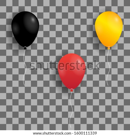 Realistic balloons for advertising, realistic balloons illustration set, graphic resource. - Vector