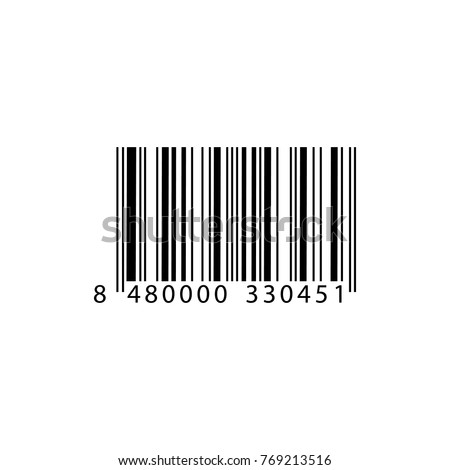 Realistic barcode icon.  Barcode vector illustration.