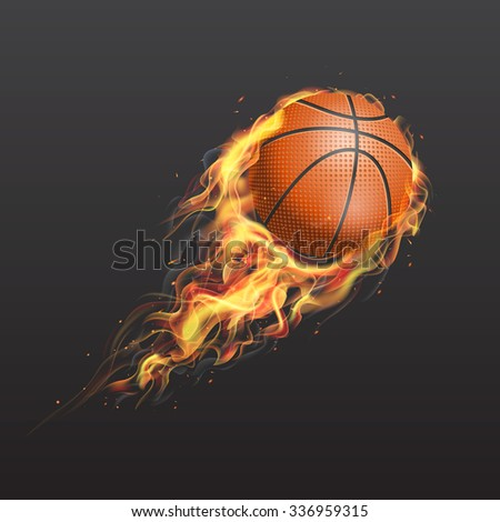 realistic basketball ball on