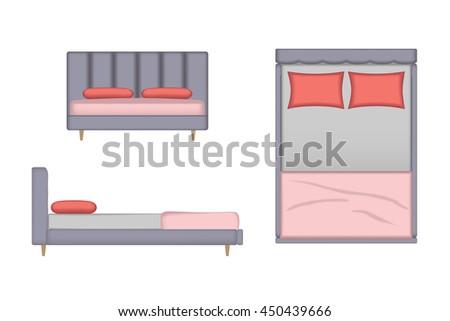 Bedroom Top View Free Vector Download Free Vector Art Stock