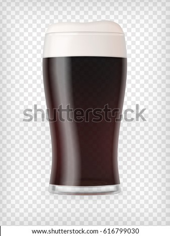 realistic beer glass mug with