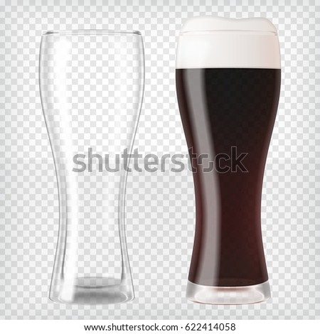 realistic beer glasses mug