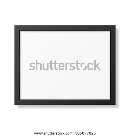 realistic black frame a4