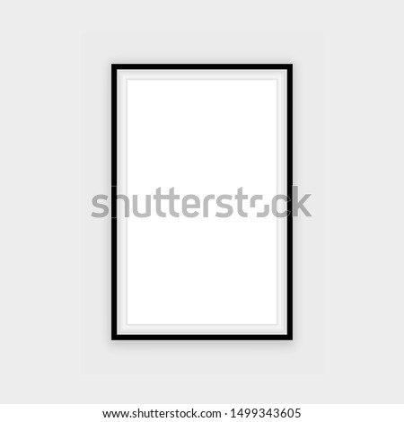 realistic black frame isolated