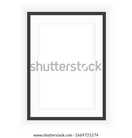 Realistic black frame. Perfect for your presentations. Vector illustration