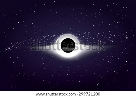 realistic black hole in outer