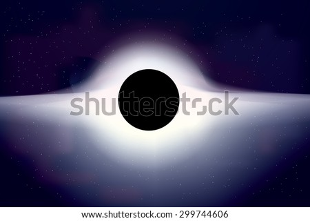 realistic black hole in space