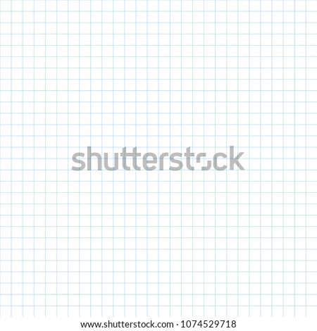 Realistic blank math practice paper seamless background. Vector pattern of chequered copybook paper