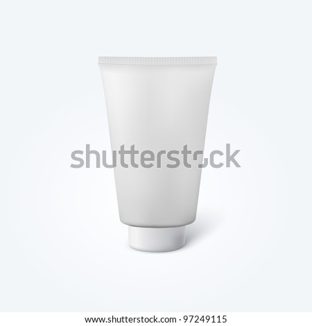 Realistic blank thick cosmetic tube - stock vector