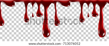 realistic blood isolated on