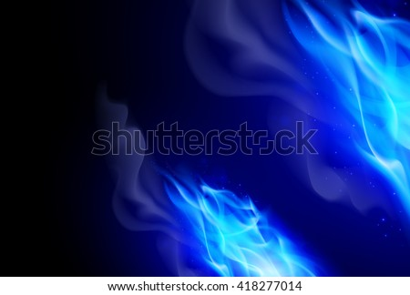 realistic blue fire flames