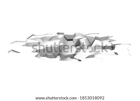 Realistic broken floor. Vector illustration isolated on white background. Ready for your design. EPS10. Сток-фото ©