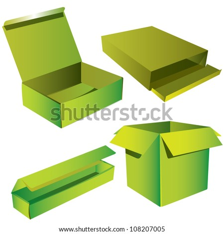 Realistic Brown Box, Cardboard Box, packaging, Eco Box