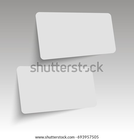 Realistic business cards template. Vector. #693957505