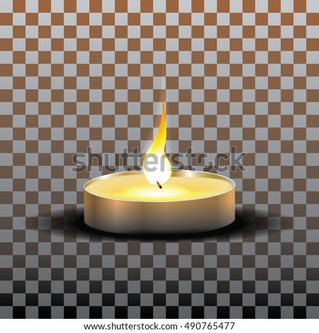 realistic candle flame isolated