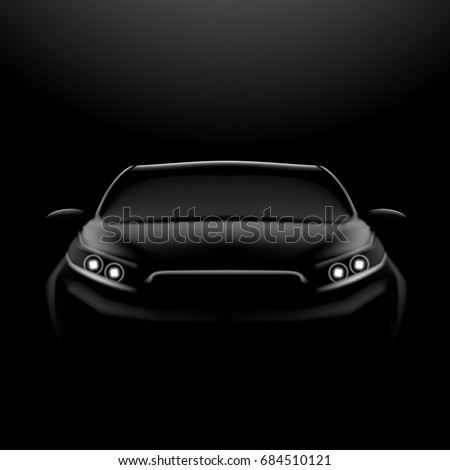 realistic car in the dark