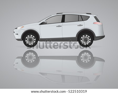 realistic car model of suv on