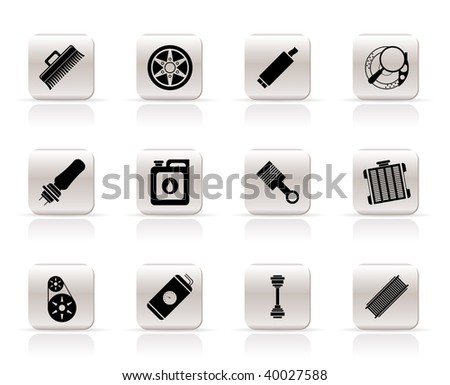 Car Parts Icon Set Download Free Vector Art Stock Graphics Images