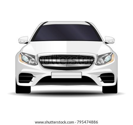 Car Front View Vectors Download Free Vector Art Stock Graphics
