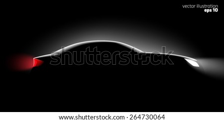 realistic car side view in the