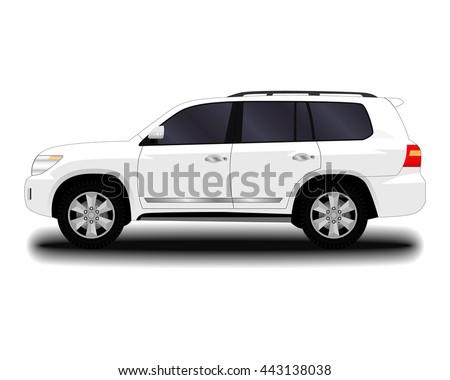 realistic car. SUV