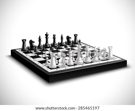 realistic chess board with 3d