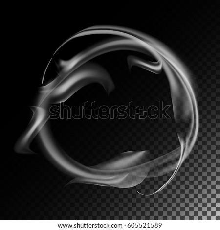 realistic cigarette smoke waves