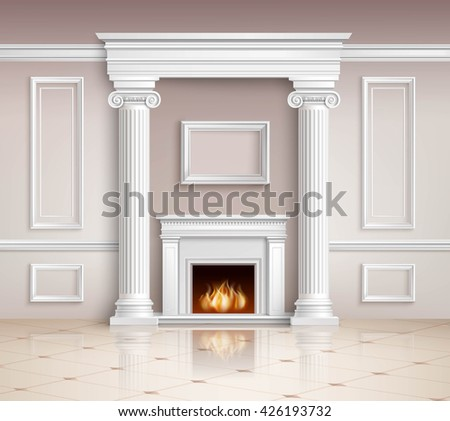 realistic classic interior room