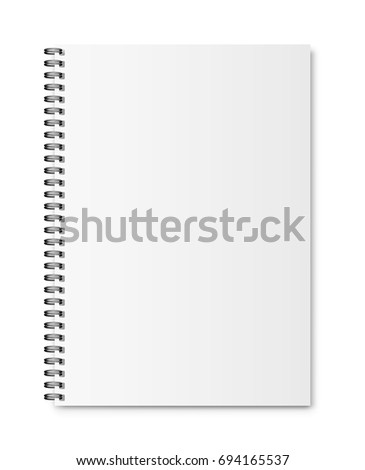 Realistic closed notebook A4. Vector illustration