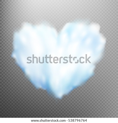 realistic cloud heart on