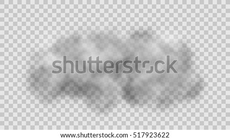 realistic cloud on transparent