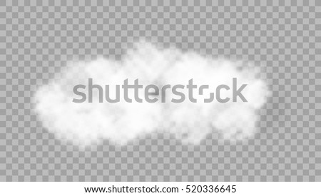 Realistic Cloud On Transparent Background. EPS10 Vector