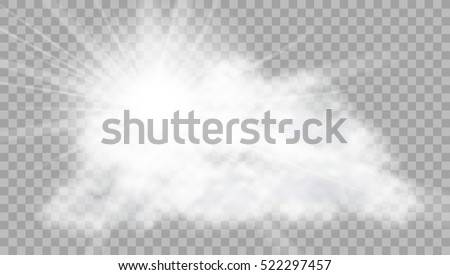 realistic cloud with sun flare