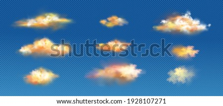 realistic clouds of yellow or