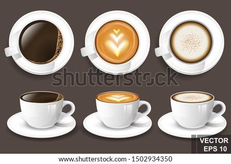 realistic coffee mug 3d vector