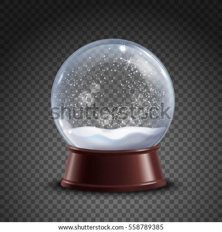 realistic colored snow globe