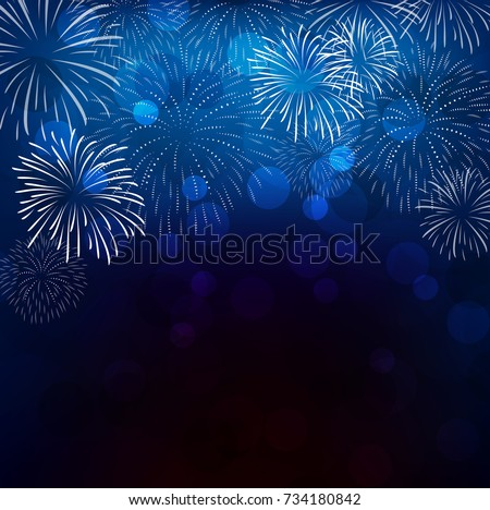 realistic colorful fireworks