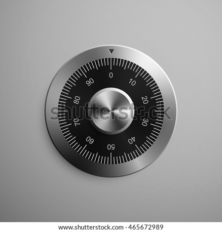 Realistic combination safe lock. Isolated on gray background. Vector Illustration, eps 10. Stock photo ©
