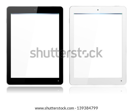 realistic computer tablet in