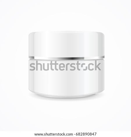 realistic cream can cosmetic