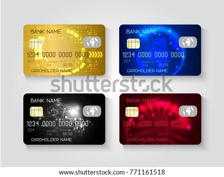Realistic Credit Card Set - Download Free Vector Art, Stock Graphics