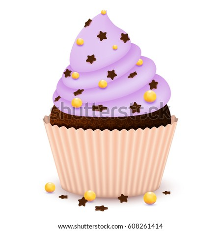 realistic cupcake muffin with