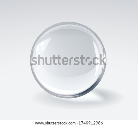 realistic 3d glass spherical