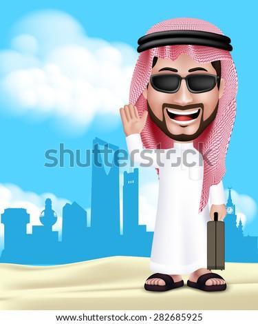realistic 3d handsome saudi