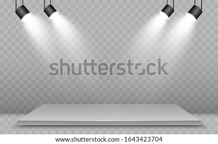 realistic 3d light box with