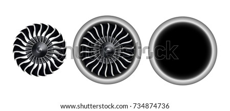 realistic 3d turbo jet engine